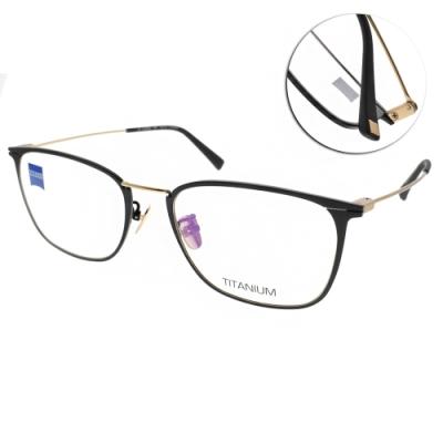 ZEISS蔡司眼鏡 鈦材質 極簡方框款/霧黑-霧金 #ZS85005 F091