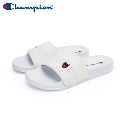 【Champion】CLOUD 運動拖鞋 男女款 情侶鞋-白(UFLS-0033-00)