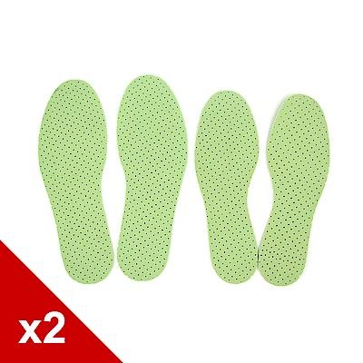 糊塗鞋匠 優質鞋材 C122 台灣製造 薰衣草乳膠鞋墊 (2雙/組)