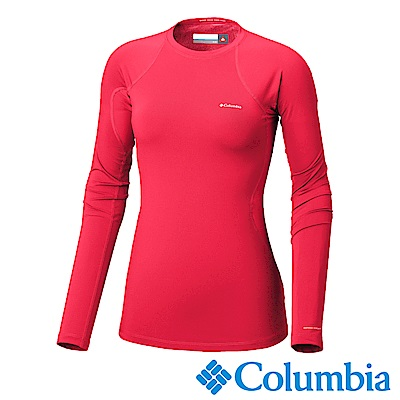 Columbia哥倫比亞 女款-Omni-HEAT保暖快排長袖上衣-紅色