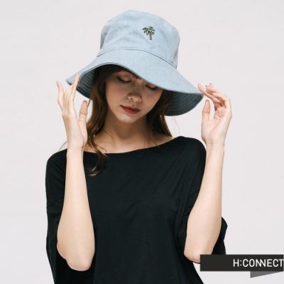 H:CONNECT 韓國品牌 配件 -電繡造型牛仔漁夫帽