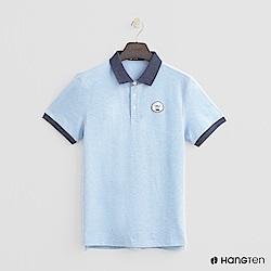 Hang Ten - 男裝 - 撞色滾邊POLO衫 - 藍