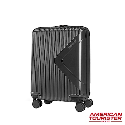 AT美國旅行者 20吋Modern Dream都會光澤防刮耐磨硬殼TSA登機箱(碳黑)