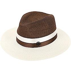 Maison Michel HENRIETTA 羅緞綢帶寬檐亨麗埃塔草編帽(米咖)