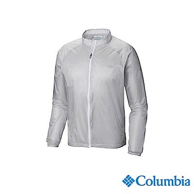 Columbia 哥倫比亞 男款-野跑輕量防潑水風衣-灰色 UAE06980GY