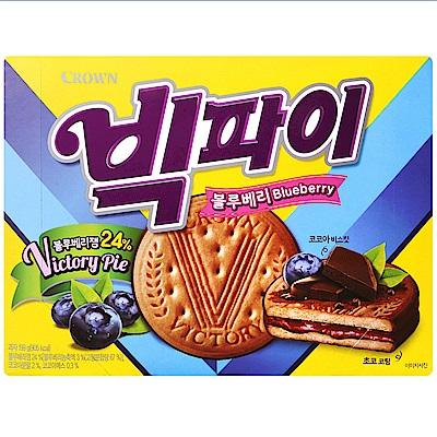 Crown 藍莓巧克力風味夾心餅乾(199g)