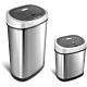 美國NINESTARS時尚不銹鋼感應垃圾桶50L+12L(買大送小廚衛優惠組) product thumbnail 2