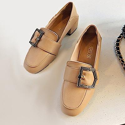 KEITH-WILL時尚鞋館 破盤價夏日必買增高懶人粗跟鞋-棕色