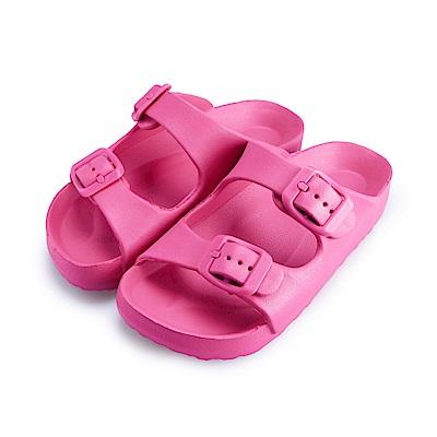 BuyGlasses 輕量造型防水兒童拖鞋-桃
