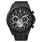 SEIKO 精工 CS風格時尚計時腕錶/黑紅(8T63-00F0SD/SSB253P1)