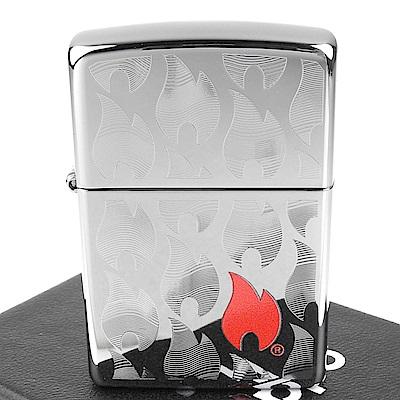 ZIPPO 美系 Flames Design 火焰圖案雕刻打火機