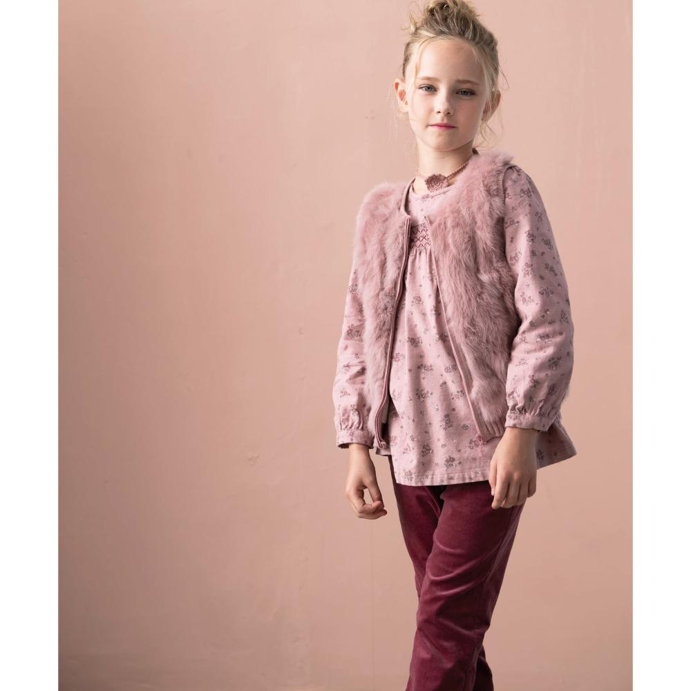 PIPPY 平織絨布褲 玫瑰