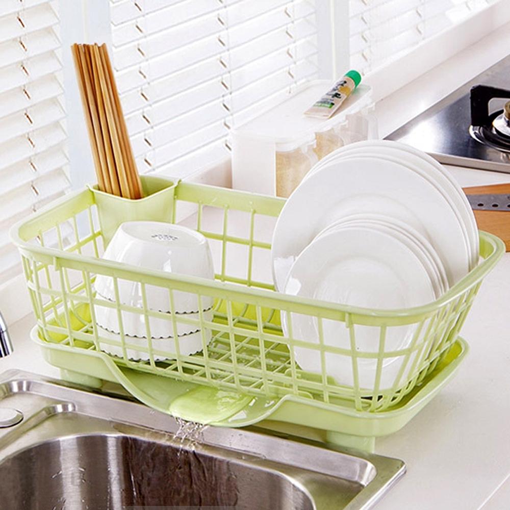 E-dot 多功能廚房收納置物瀝水籃(二色選)