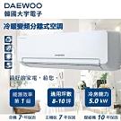 DAEWOO 大宇電子8-10坪冷暖變頻 分離式冷氣 DSA-F1783JLH-VI/VO