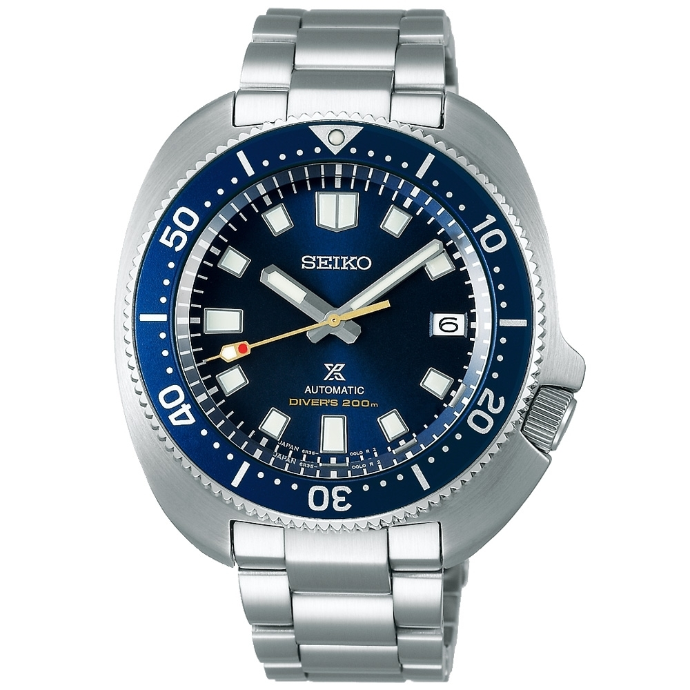 SEIKO 黑標 潛水錶55週年限量款42.7mm SPB183J1/6R35-01G0B附贈藍色矽膠錶帶
