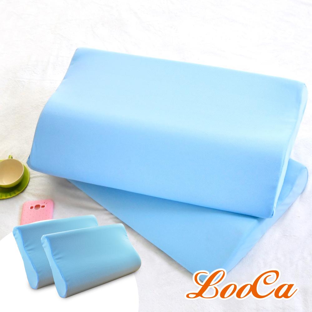 (超值組)LooCa 吸濕排汗綠能兩用寶背紓壓枕2入+雅芳凝膠枕2入