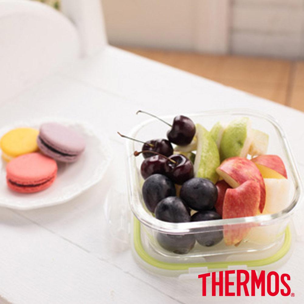 THERMOS 膳魔師 耐熱玻璃保鮮盒0.8L(Z-GFC800S-G)