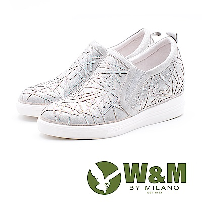 W&M 雪花內增高休閒鞋 女鞋 - 銀 (另有黑)