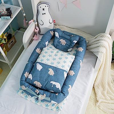 Kori Deer 可莉鹿 純棉多功能床中床-北極熊有被子