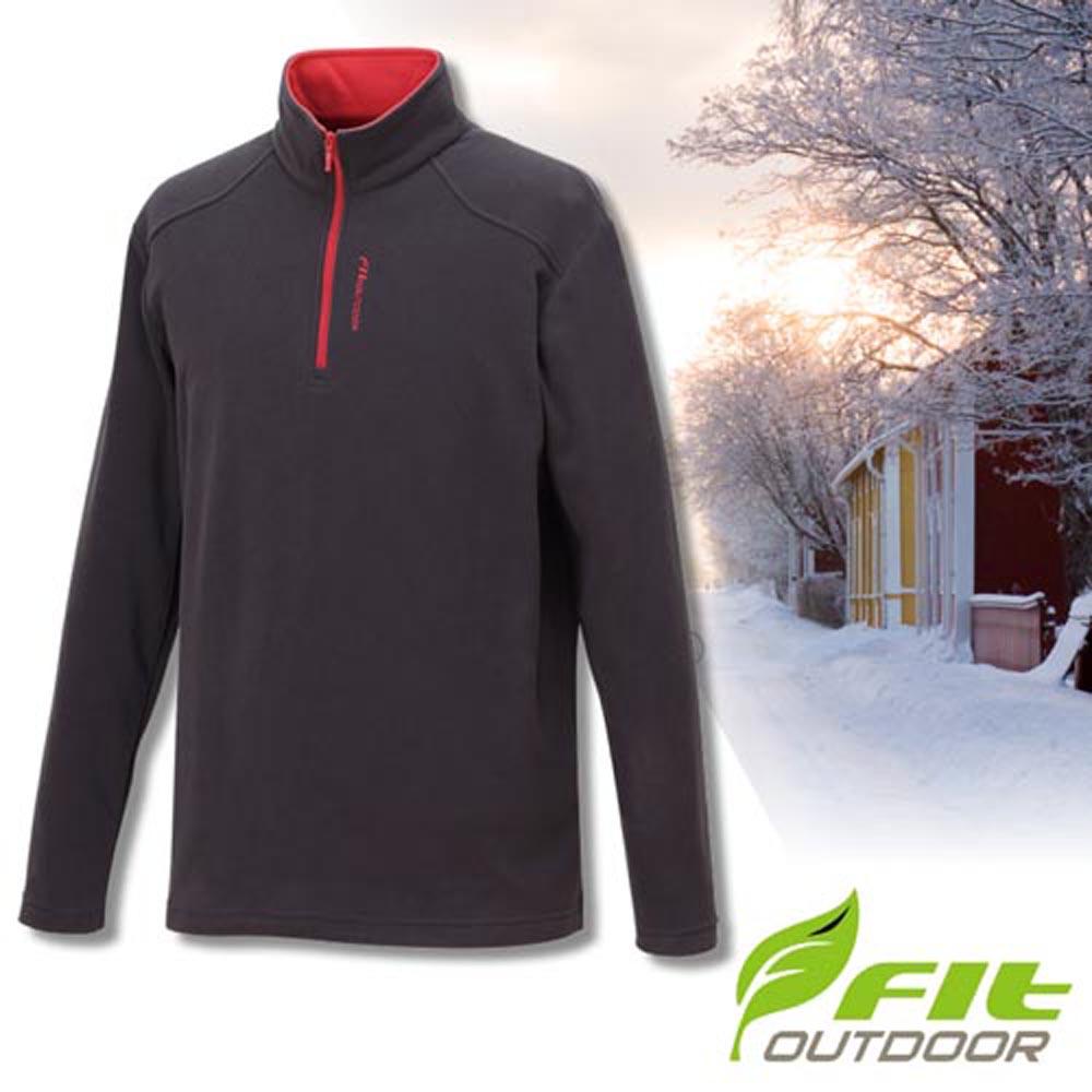 FIT 男款 雙刷雙搖保暖長袖上衣_GW1101 鐵礦灰 W