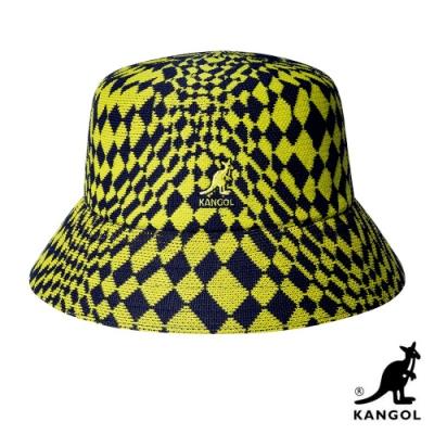 KANGOL-WARPED CHECK 漁夫帽-黃藍格紋