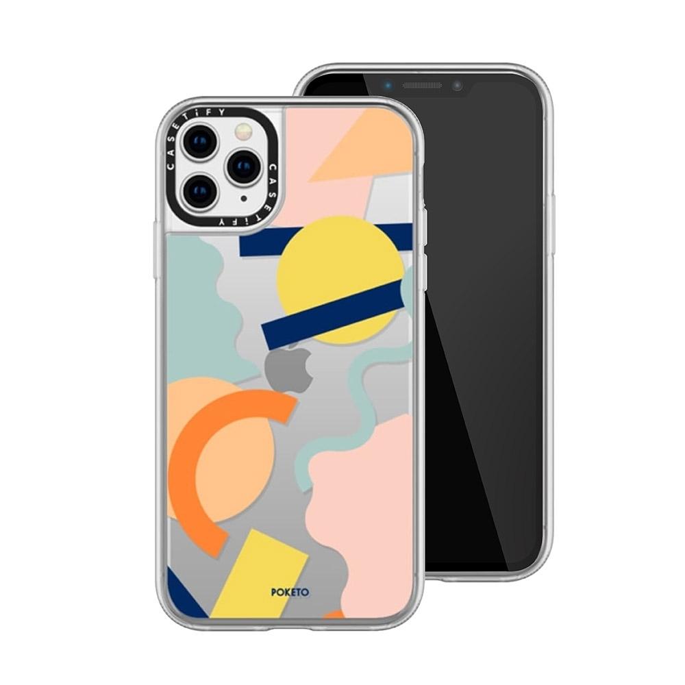Casetify iPhone 11 Pro Max 輕量耐衝擊保護殼-幾何世界