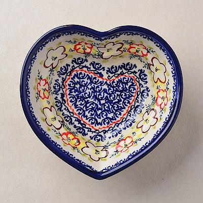【波蘭陶 Zaklady】波蘭陶 沙漠玫瑰系列 愛心造型烤盤 波蘭手工製