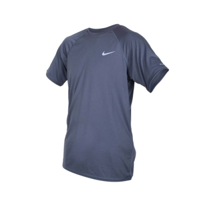 NIKE SWIM SWIM 男短袖防曬T恤-游泳 慢跑 路跑 海邊 海灘 防紫外線 墨藍紫