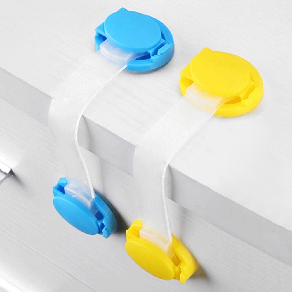 colorland【10入】安全鎖抽屜鎖軟鎖-寶寶櫃門鎖