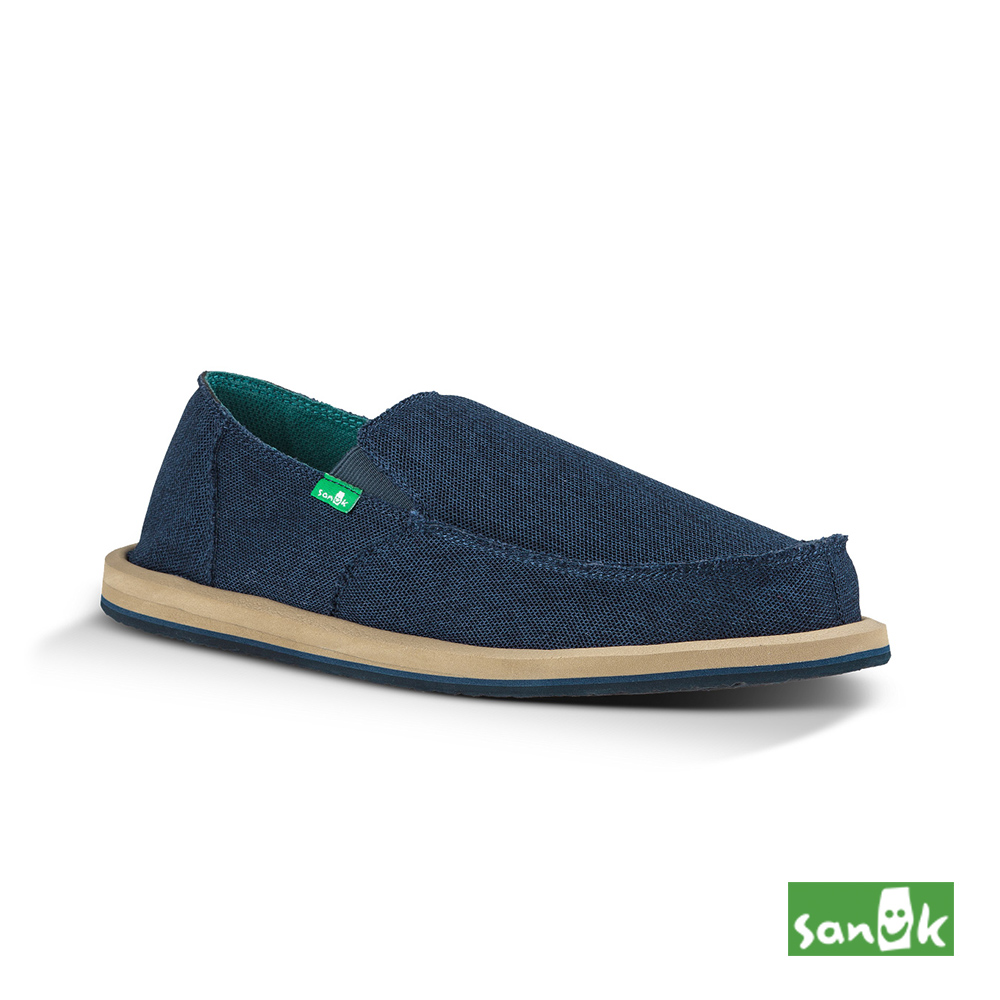 SANUK 復古帆布懶人鞋-男款(藍色)1015961 NAVY