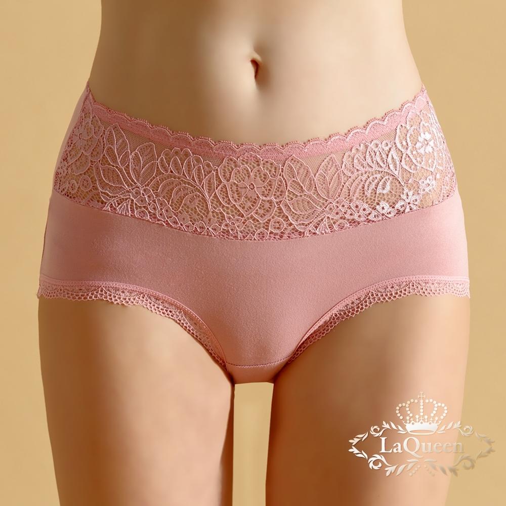 內褲 無痕蠶絲柔軟美臀小褲-粉 La Queen