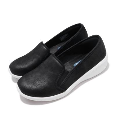 Skechers 休閒鞋 Arya-Sweet Things 女鞋 懶人鞋 厚底 增高 皮質 輕量 減震 黑 白 23781BKW
