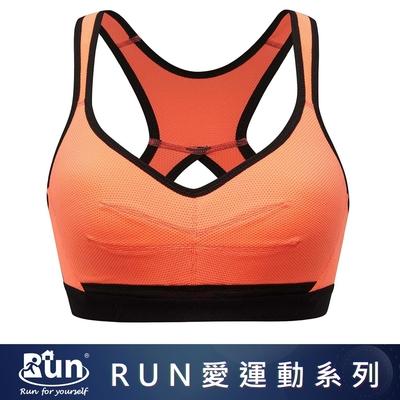 推EASY SHOP-RUN運動 無鋼圈B-D罩內衣(螢光橘)