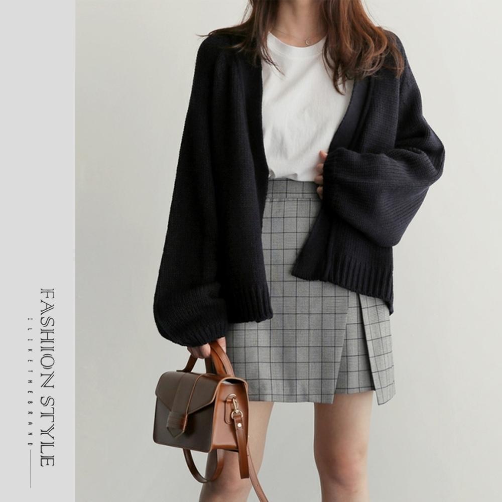 2F韓衣-簡約優雅百搭針織外套-2色(F)