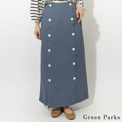 Green Parks 雙排釦設計長裙