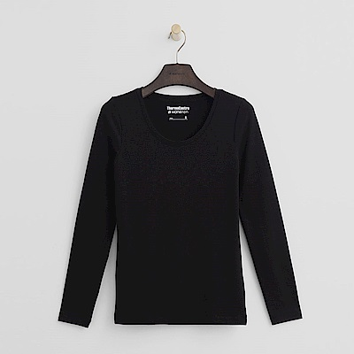 Hang Ten - 女裝-ThermoContro恆溫多功能智慧暖溫圓領上衣-黑色
