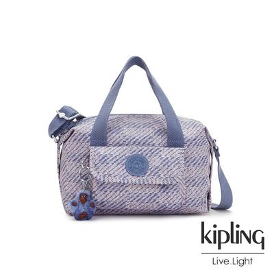 Kipling 斜紋軟呢丁香紫波士頓手提兩用包-BRYNNE
