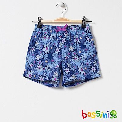 bossini女童-印花輕便短褲04天藍