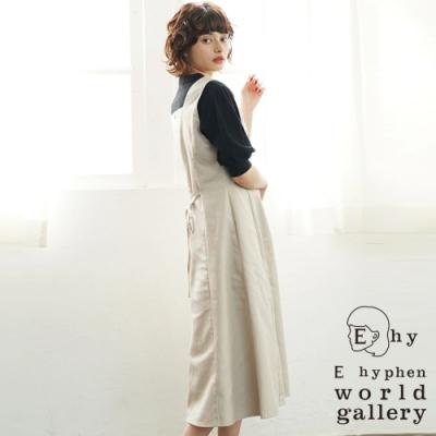 E hyphen 簡約素色ALINE連身背心洋裝