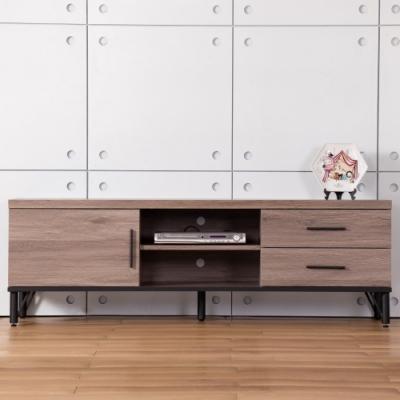 D&T德泰傢俱 BROOK淺胡桃木5尺電視櫃-150x60x49cm