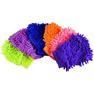 車的背包 超細纖維洗車除塵雙面手套(3入組)隨機色