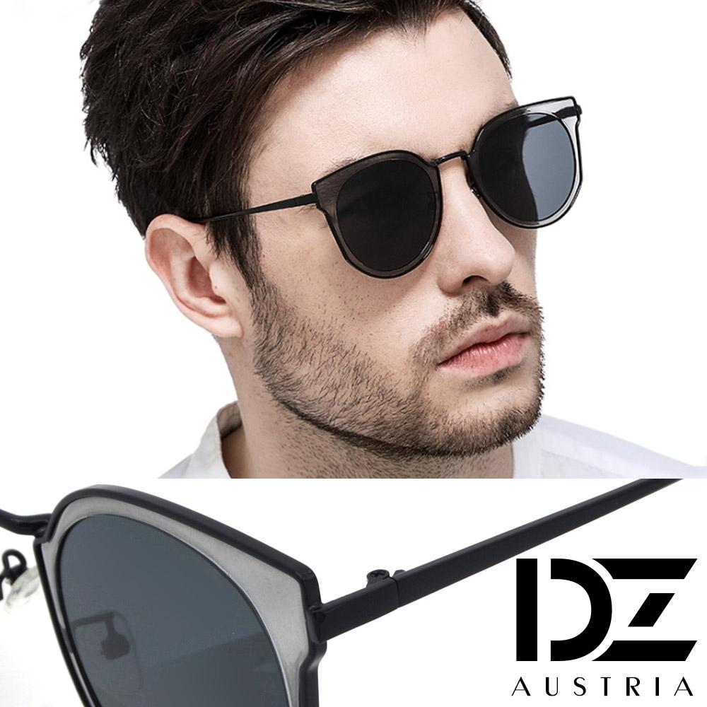 【2件59折】DZ 幻透潮型 抗UV防曬太陽眼鏡墨鏡(透灰框灰片)