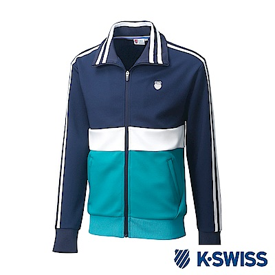 K-SWISS Tracksuit Zip Up運動外套-男-藍