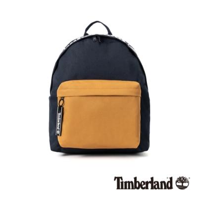 Timberland 中性深寶石藍撞色拼接休閒後背包|A2FQW