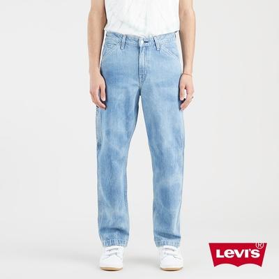 Levis 男款 Stay Loose復古寬鬆版繭型牛仔褲 精工水波紋水洗 天絲棉