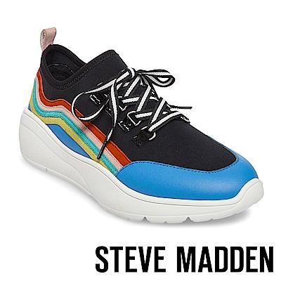 STEVE MADDEN-CAVO潮流款搖滾彩虹老爹鞋-黑色