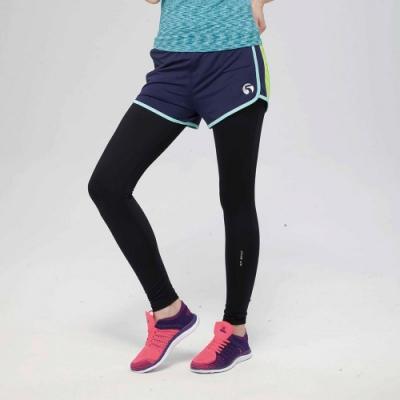 【FIVE UP】亮采晴漾慢跑短褲-藍色
