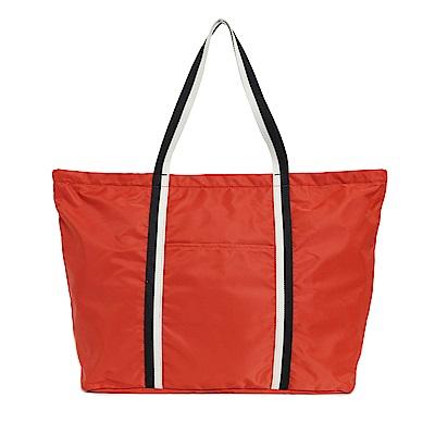 agnes b. Voyage 中型單肩托特包 (橘紅) @ Y!購物