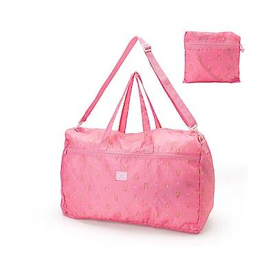 Sanrio 美樂蒂防潑水可折式旅用提背袋(甜蜜信件)
