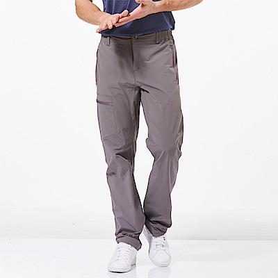 【HAKERS 哈克士】男 快乾彈性修身長褲-灰色